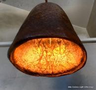 Lampe aus Kaffeesatz